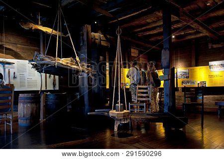 Bergen, Norway - July 20, 2018: Hanseatic Museum In Bergen, Norway