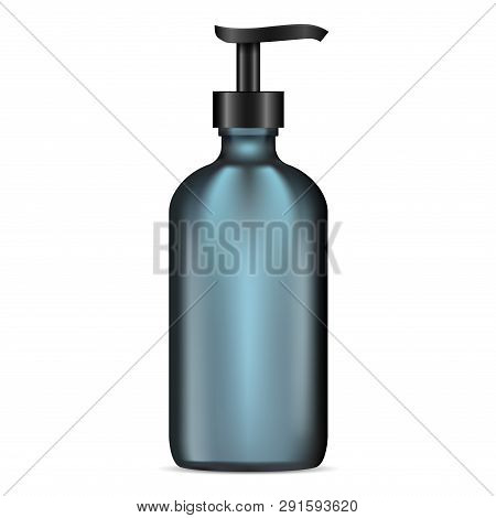 Matte Glass Lotion Pump Bottle. Cosmetic Container With Dispenser For Gel, Moisturizer, Liquid, Soap