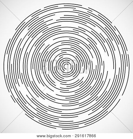 Concentric circulating, circle line. Abstract vortex line background. Vector illustration for design your website poster