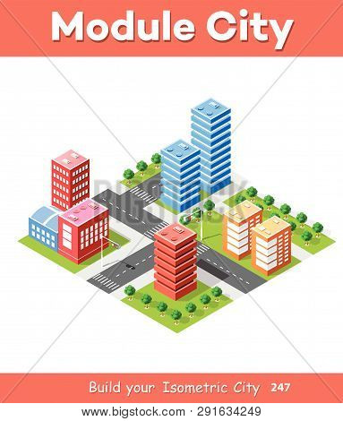 City, Colorful, 3d, Vector, Skyscraper, Building, Symbol, Illustration, Flat, Structure, Skyline, De
