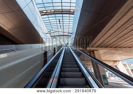 Metro Station Amsterdam Noord, Staire To The Subway Station. 23 Februari 2019 Amsterdam Nederland
