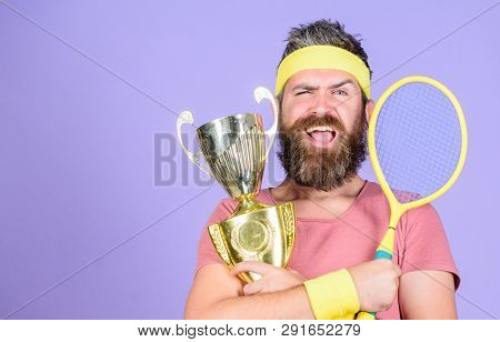 Success And Achievement. Win Tennis Game. Win Every Tennis Match I Take Part In. Tennis Player Win C