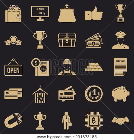 Cost Icons Set. Simple Set Of 25 Cost Icons For Web For Any Design