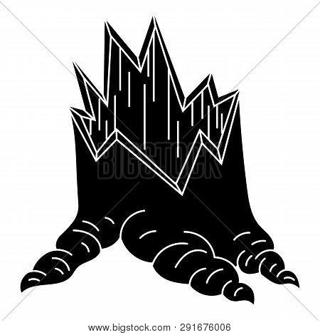 Broken Stump Icon. Simple Illustration Of Broken Stump Icon For Web Design Isolated On White Backgro
