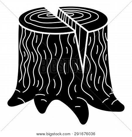 Chopped Stump Icon. Simple Illustration Of Chopped Stump Icon For Web Design Isolated On White Backg