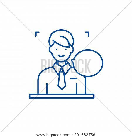 Answers On Questions Line Icon Concept. Answers On Questions Flat  Vector Symbol, Sign, Outline Illu