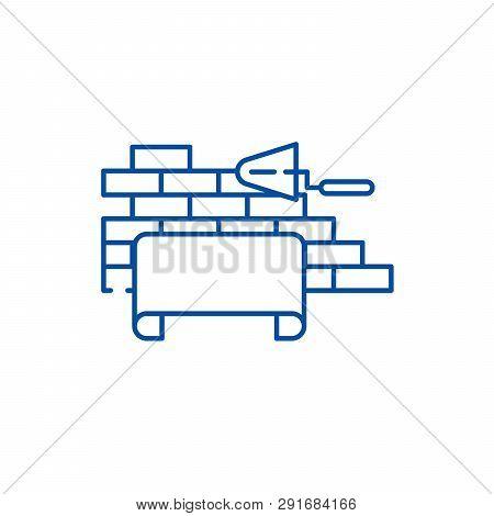 Architectural Supervision Line Icon Concept. Architectural Supervision Flat  Vector Symbol, Sign, Ou