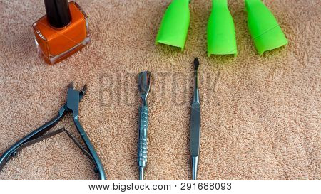 Equipment For Beauty Shop,cosmetic Salon Or Beauty Parlour.manicure Tools In The Beauty Salon.equipm