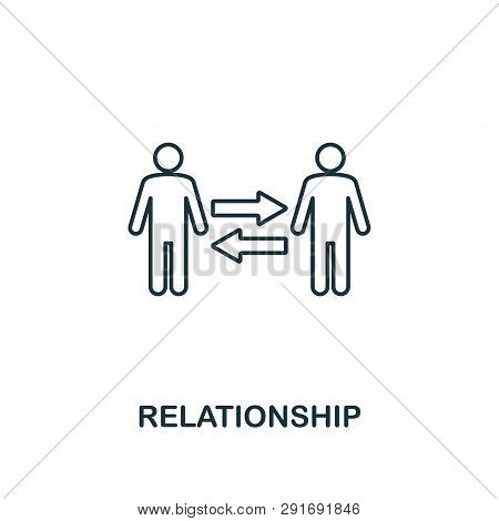 Relationship Icon. Thin Line Design Symbol From Business Ethics Icons Collection. Pixel Perfect Rela