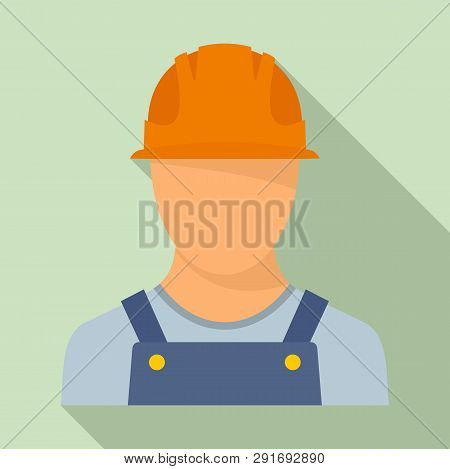 Port Cargo Worker Icon. Flat Illustration Of Port Cargo Worker Vector Icon For Web Design