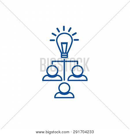 Brainstorm, Idea  Line Icon Concept. Brainstorm, Idea  Flat  Vector Symbol, Sign, Outline Illustrati
