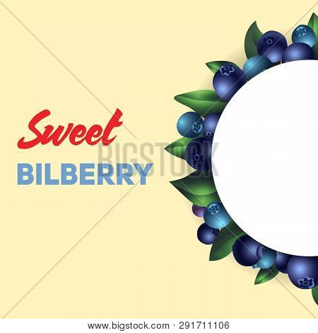 Sweet Bilberry Concept Background. Cartoon Illustration Of Sweet Bilberry Vector Concept Background