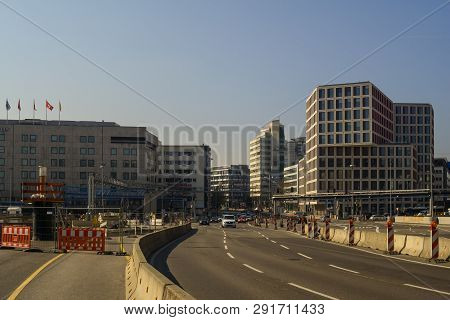 Stuttgart,germany - March 23,2019:main Station This The Main Street B27.on The Left Side Is The Old