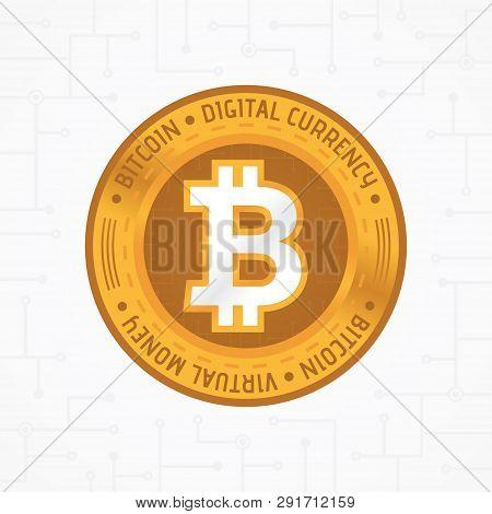 Golden Bit-coin Coin
