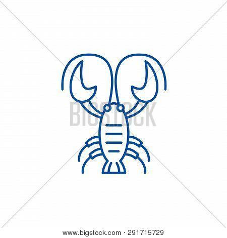 Cancer Zodiac Sign Line Icon Concept. Cancer Zodiac Sign Flat  Vector Symbol, Sign, Outline Illustra