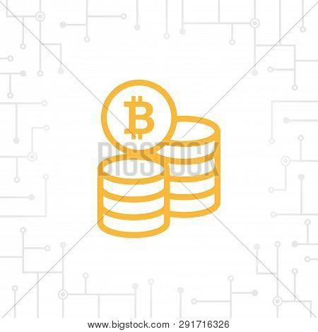 Bit-coin Coin Flat Icon