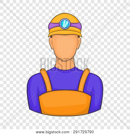 Male Miner Icon In Cartoon Style Isolated On Background For Any Web Design