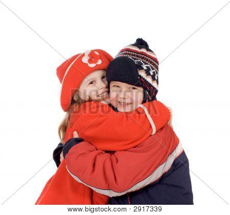 Children Embrace