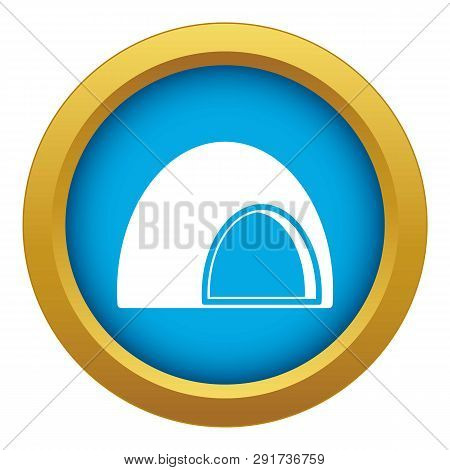 Souffle Icon Blue Vector Isolated On White Background For Any Design