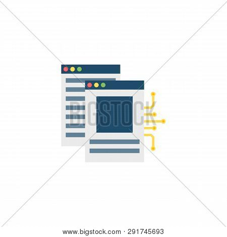 White Paper Icon. White Paper Vector Flat Icon Isolated On White Background