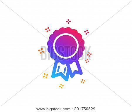 Success Icon. Winner Medal Sign. Award Reward Symbol. Glory Or Honor. Dynamic Shapes. Gradient Desig