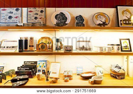 Bergen, Norway - July 20, 2018: Souvenir Shop In Hanseatic Museum In Bergen, Norway
