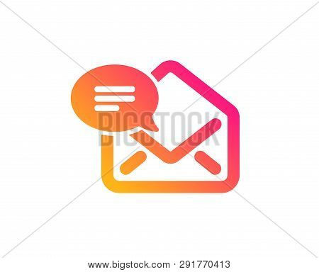 New Mail icon. Message correspondence sign. E-mail symbol. Classic flat style. Gradient new Mail icon. Vector poster