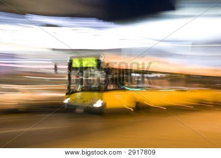 City Landscape With Bus