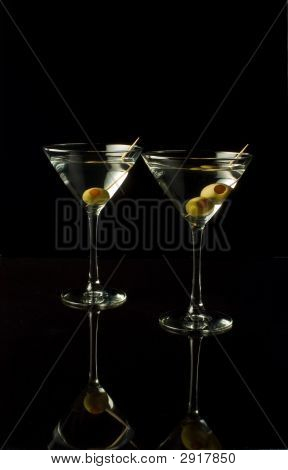 Two Matrinis With Olives