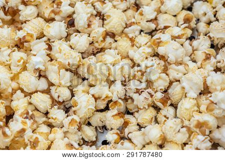 Popcorn Heap Close-up In A Chinese Market, Chengdu, China