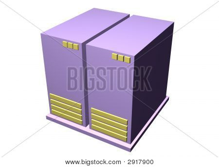 Server - Computer Clipart Graphic Isolated