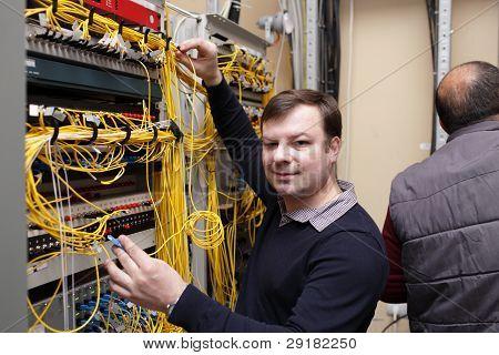 Technician Posing At Server Room