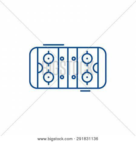 Table Soccer Line Icon Concept. Table Soccer Flat  Vector Symbol, Sign, Outline Illustration.