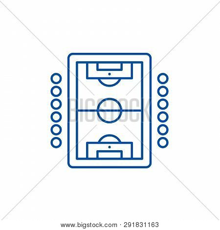Table Soccer Play Line Icon Concept. Table Soccer Play Flat  Vector Symbol, Sign, Outline Illustrati