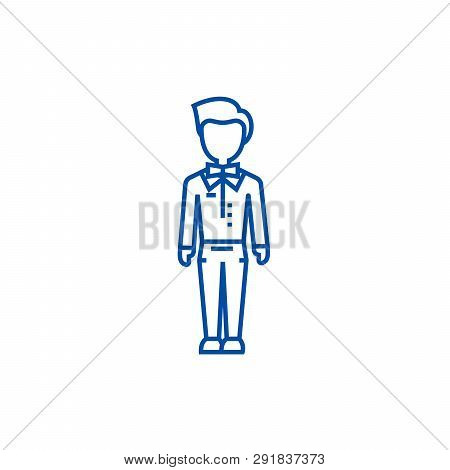 Trendy Man, Dude, Hipster Line Icon Concept. Trendy Man, Dude, Hipster Flat  Vector Symbol, Sign, Ou