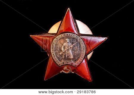Soviet military award. Red Star Orden poster