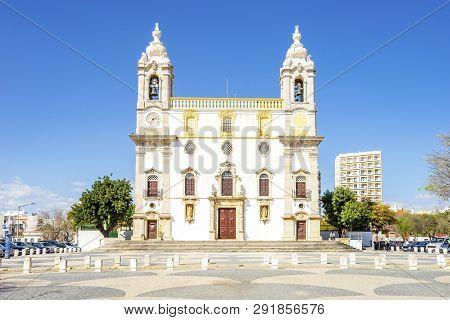 Catholic Church In Faro, Algarve, Portugal