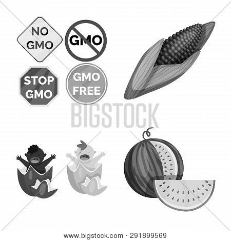 Vector Illustration Of Transgenic And Organic Icon. Set Of Transgenic And Synthetic Stock Vector Ill