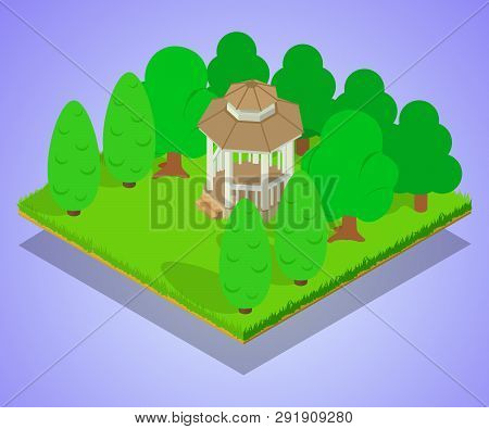 Oratory Concept Banner. Isometric Banner Of Oratory Concept For Web, Giftcard And Postcard