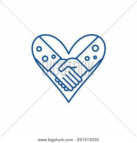 Love Fidelity Line Icon Concept. Love Fidelity Flat  Vector Symbol, Sign, Outline Illustration.