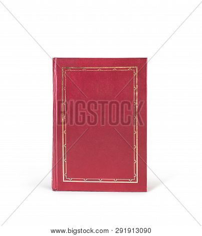 Texture Of Red Book, Fas, Isolated On White Background