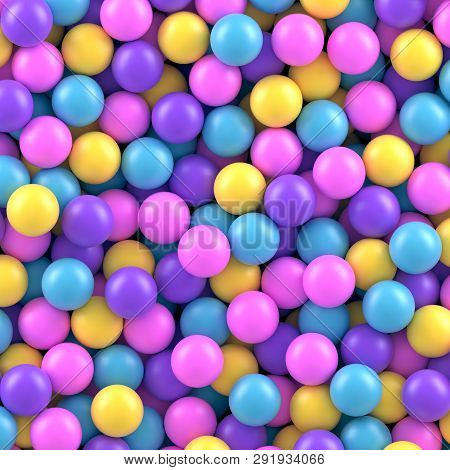 Colorful Candy Sweet Gumballs 3d Vector Background