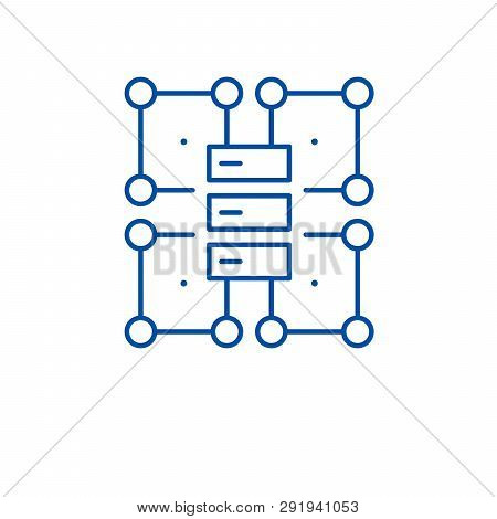Organization Structure Line Icon Concept. Organization Structure Flat  Vector Symbol, Sign, Outline