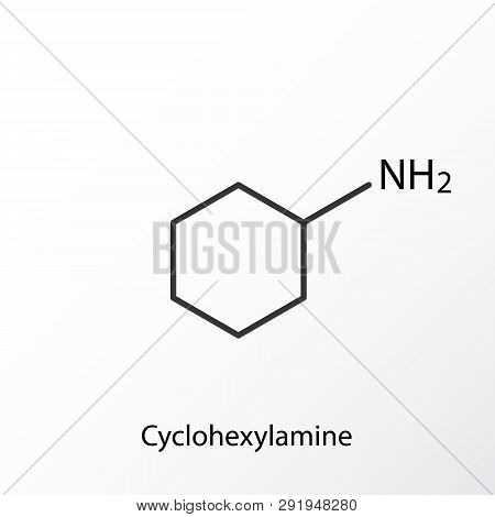Chemical structure icon. Science lab concept, simple flat design. Isolate on white background. poster