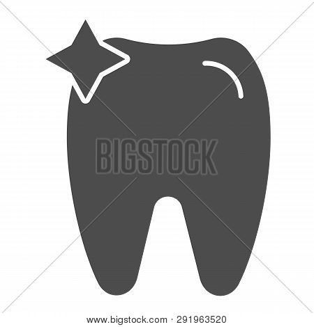 Tooth Solid Icon. Dent Vector Illustration Isolated On White. Dentistry Glyph Style Design, Designed