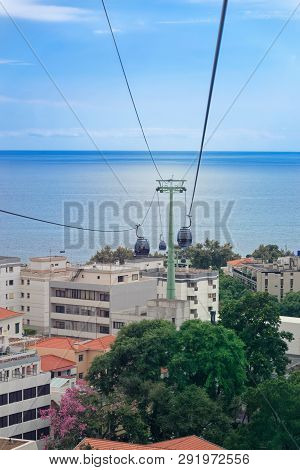 Funchal, Portugal - 17 September, 2018: View At The Buildings In Funchal City And The Ocean From A C