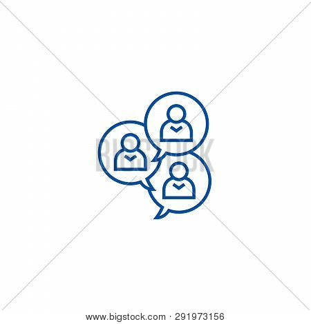 Focus Group Discussion Line Icon Concept. Focus Group Discussion Flat  Vector Symbol, Sign, Outline
