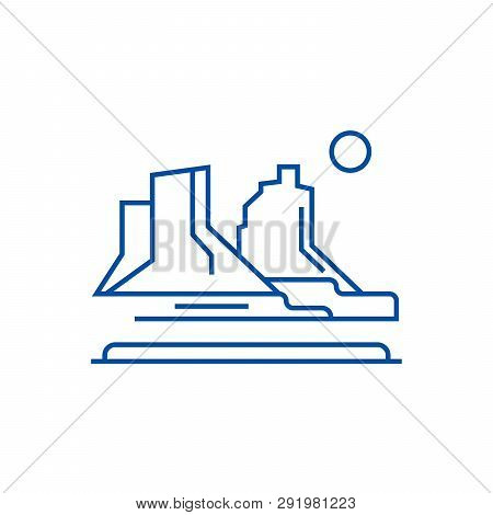 Grand Canyon Line Icon Concept. Grand Canyon Flat  Vector Symbol, Sign, Outline Illustration.