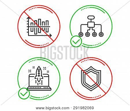 Do Or Stop. Restructuring, Start Business And Diagram Chart Icons Simple Set. Security Sign. Delegat
