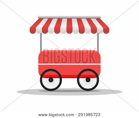 Creative Street Cart Or Shop. Fast Food Truck Concept. Street Food Vehicles, Truck, Van. Fast Food D